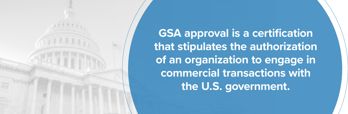 Government approval of GSA organizations