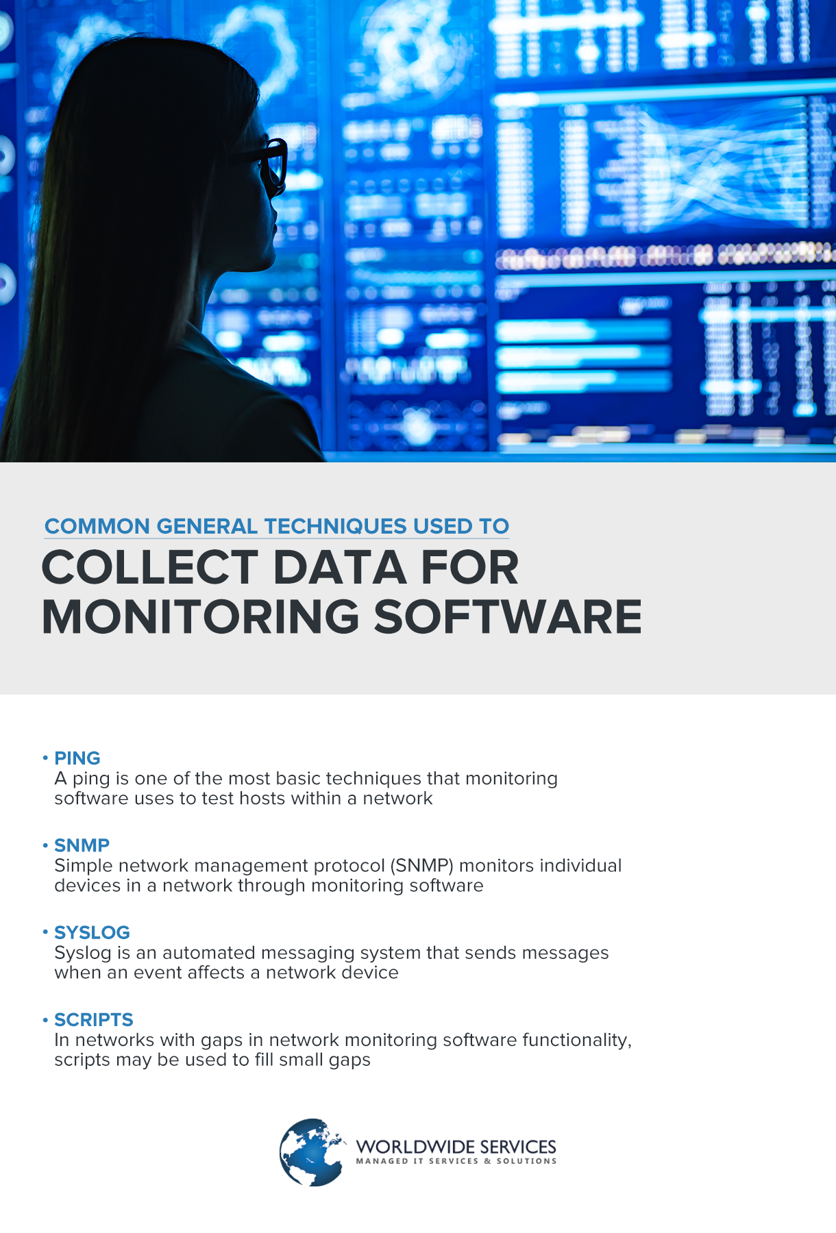 Collect data for monitoring software